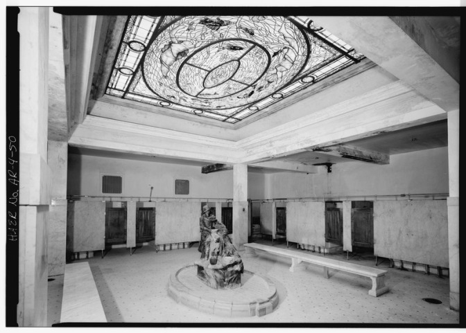 GENERAL_VIEW_OF_MEN'S_BATH_HALL._-_Hot_Springs_National_Park,_Bathhouse_Row,_Fordyce_Bathhouse-_Mechanical_and_Piping_Systems,_S