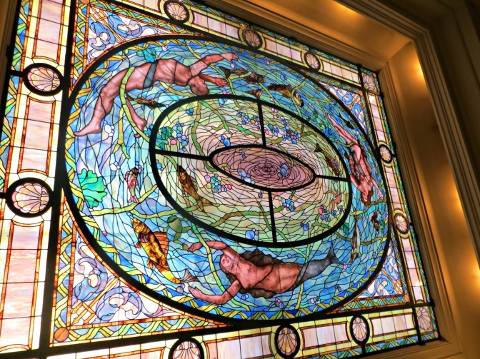 Stained Glass ceiling in Hot Springs