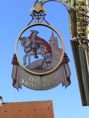 Route du vin sign