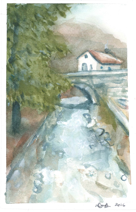 Bulgaria, a hand-painted postcard